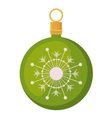 Sphere of merry Christmas design vector image