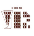 stick of chocolate stick of dark chocolate whole vector image vector image