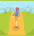teen boy in baseball cap riding skateboard outdoor vector image vector image