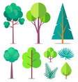 template with trees and bushes different sizes vector image