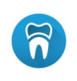 tooth flat icon vector image
