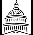 United States of America Capitol Building vector image vector image