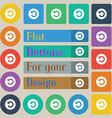 Upgrade arrow icon sign Set of twenty colored flat vector image