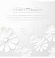 White paper flower postcard vector image