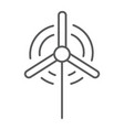 wind generator thin line icon ecology and energy vector image vector image