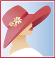 woman with hat vector image vector image