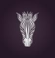 zebra logo icon design vector image vector image