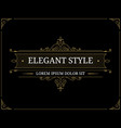 vintage luxury logo template vector image