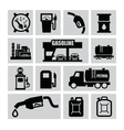 petrol icons vector image