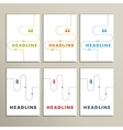 Set colorful abstract lines on a white background vector image
