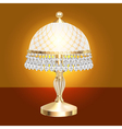 table lamp with crystal vector image