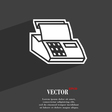 Cash register machine icon symbol Flat modern web vector image
