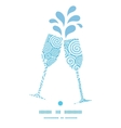 abstract swirls toasting wine glasses silhouettes vector image vector image