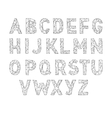 Alphabet abc font Type letters Lowpoly