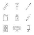 art instruments icons set outline style vector image vector image