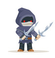 assassin outlaw thief burglar fantasy medieval vector image