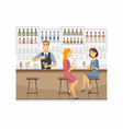 bartender at work - cartoon people characters vector image vector image