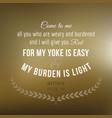 bible verse from matthew vector image vector image
