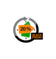 black friday discount 20 percentage vector image vector image