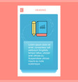 book and pencil mobile vertical banner design vector image vector image