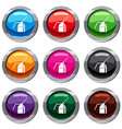 can of spray paint set 9 collection vector image vector image