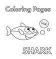 cartoon shark coloring book vector image
