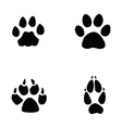 cat jaguar dog fox footprint vector image vector image