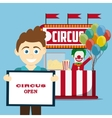 Circus clown design vector image