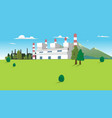coal power plant factory on good environment hill vector image