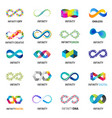Colorful abstract infinity endless symbols and vector image vector image