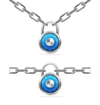 Combination Chain and Padlock vector image vector image