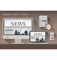 Computer News and Newspaper E-Book vector image vector image