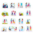 diseases transmission ways flat icons vector image