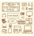electronics sale vector image vector image