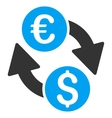 Euro Dollar Change Flat Icon vector image vector image