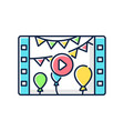 event videography rgb color icon vector image vector image