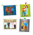 family special day photos inoculated on white vector image vector image