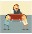 fighting businessmen for their boss vector image