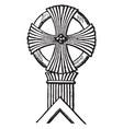 finial cross is a circular pattern vintage vector image vector image