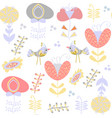 floral gentle seamless pattern it is located in vector image vector image