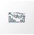 forecasting model icon line symbol premium vector image vector image