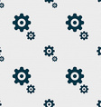 gears icon sign Seamless pattern with geometric vector image vector image
