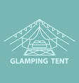 glamping tent accommodation vector image