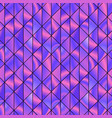 graphic pattern with vivid violet triangles vector image