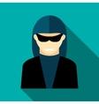 Hacker icon flat style vector image vector image