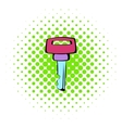 Ignition key icon comics style vector image vector image