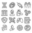 infection and immunization icons set virus vector vector image