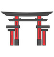 japanese portal isolated icon vector image vector image
