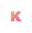 k particle letter logo icon design vector image