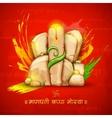 Lord Ganesha made of rock for Ganesh Chaturthi vector image vector image